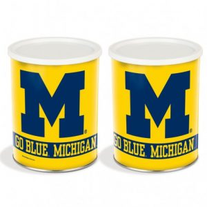 popcorn girl las vegas michigan wolverines popcorn tin gift