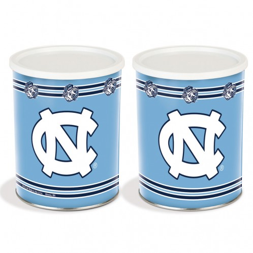 popcorn girl las vegas north carolina tarheels popcorn tin gift