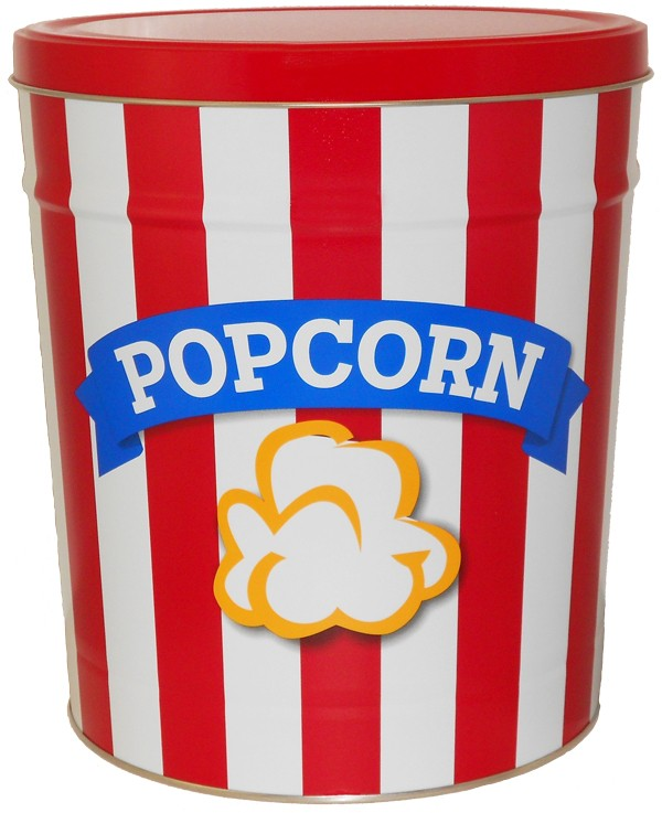 popcorn girl las vegas red white blue popcorn tin gift