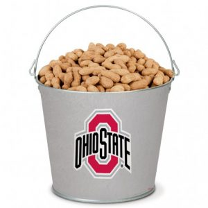 popcorn girl las vegas ohio state pail gift filled with peanuts